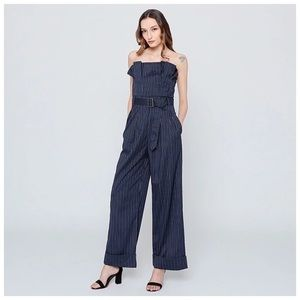 ‼️COMING SOON Blue Stripe Ruffle Jumpsuit